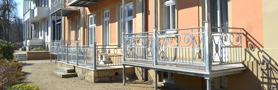 Balkonansicht Hotel-Pension